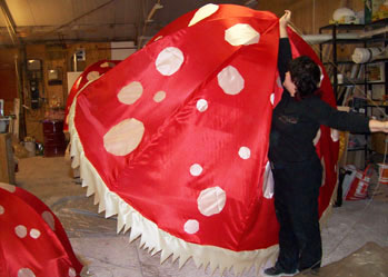 giant toadstool decoration for party