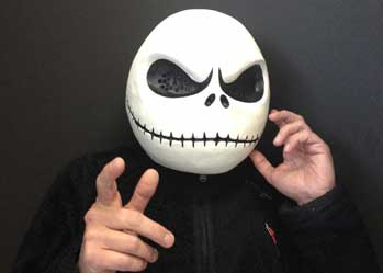 Jack Skellington costume Nightmare Before Christmas mask head