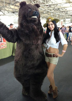 grizzly realistic bear costume suit sexy parkranger