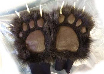 realistic bear paws