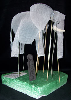 elephant giant puppet model makers jungle book colonel hathi