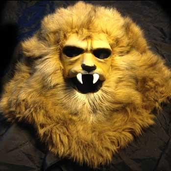 lion mask fake fur halloween