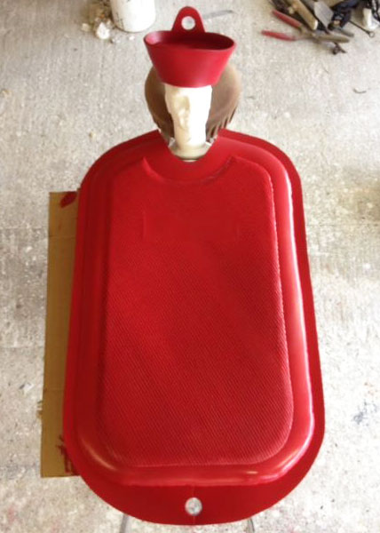 giant hot water bottle costume