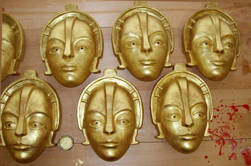 metropolis film mask gold robot