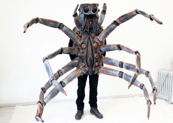 wolf spider Halloween insect costume made by Tentacle Studio