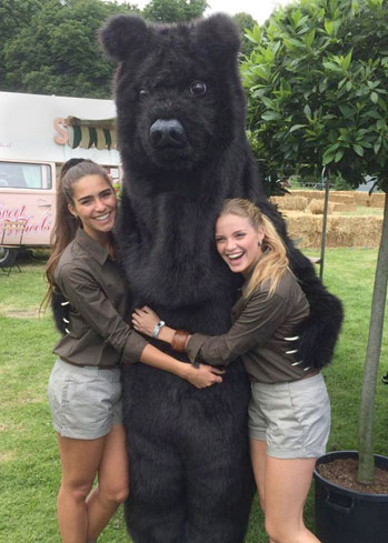 realistic grizzly brown bear costume hire buy rental