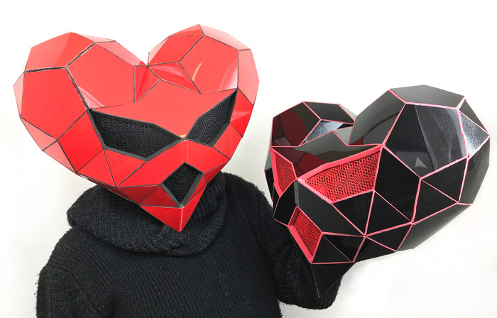 custom dj masks made by Tentacle Studio maskmaker