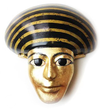 Egyptian gold tomb Tutemkahnem mask museum replica made by Tentacle Studio