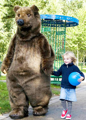 bear costume realistic grizzly promotional mascot costumes teddy