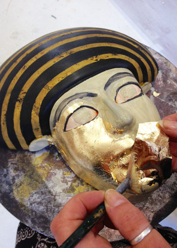 replica museum egyptian mummy mask maker