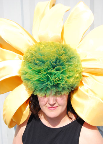 flower hats headdress echinacea Frida Ascot best couture