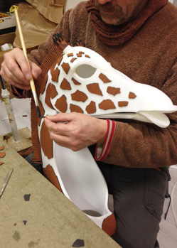 giraffe head mask custom mask maker studio