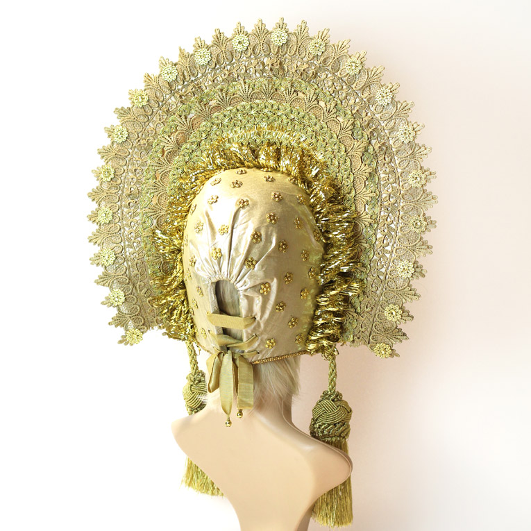 gold russian custom headdress maker Tentacle Studio