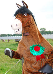 horse head animal mask and costume