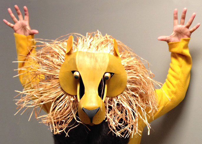 lion king head mask musical costume