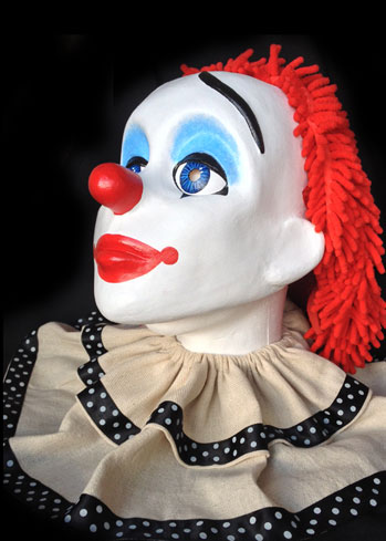 pierrot clown custom made mask costume headmask