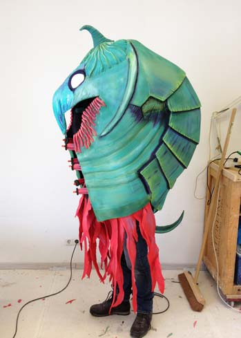 sea monster creature costume shell
