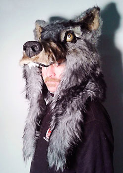 wolf mask hat headdress head fur akela jungle book Tentacle Studio