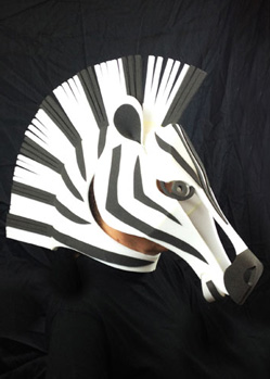 zebra head theatre costume mask custom prop maskmaker animal masks maker